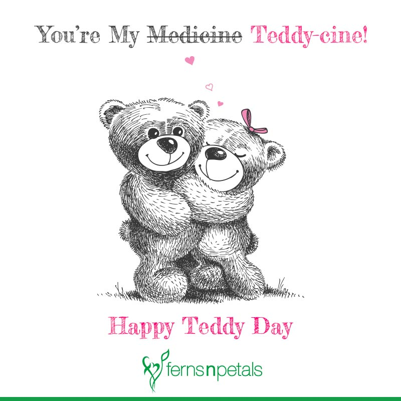 teddy day msg for love