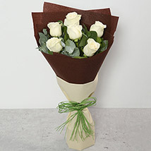 Bouquet Of White Roses: Sympathy And Funeral Flowers