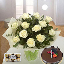 Pure Love Combo: Sameday Flowers Delivery Qatar