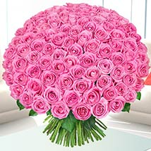 Delicate Pink Roses Bunch: Luxury Flowers