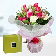 Tulips & Roses With Patchi Chocolates: Tulip Flowers
