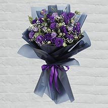 Purple Lisianthus Bouquet: Gifts Offers and Deals