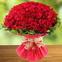 100 Red Roses: Rakhi Gifts for Sister