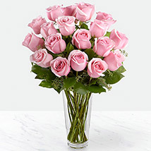 Vase Of Delicate Pink Roses: Mother's Day Flowers