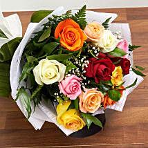Mix Presentation Bouquet:  Valentine Roses