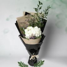 White Hydrangea Bouquet: Valentines Day Flowers