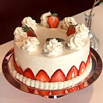 Blush Strawberry Cream Cake: