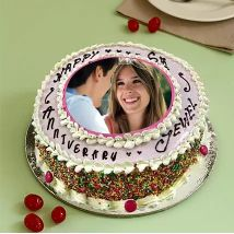 Anniversary Special Photo Cake:  Personalised Gifts Shop