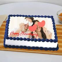 In Love Anniversary Photo Cake:  Personalised Gifts Shop