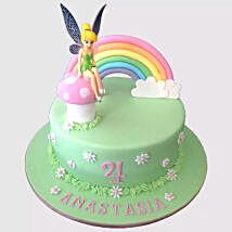 Tinker Bell Fondant Cake:
