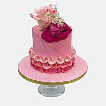 Floral Cake: Rakhi Gifts for Sister