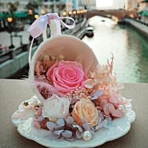 Eternal Pink Flower Sitting Tea Cup: