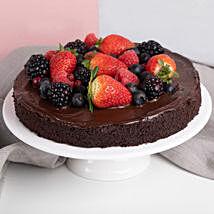 Vegan Berry Chocolate Cake: