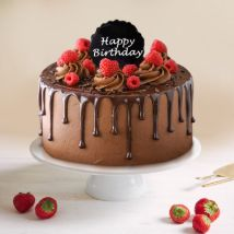 Dripping Chocolate Birthday Cake: Gifts for Husband