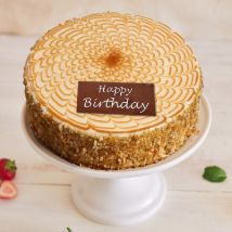 Happy Birthday Crunchy Butterscotch Cake: Gifts for Husband