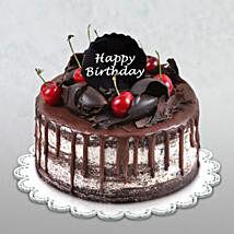 Happy Birthday Delicate Black Forest Cake: Birthday Cake