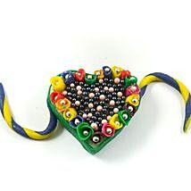 Heart Shape Edible Rakhi Sweet: